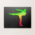 Artes marciales lisos puzzles