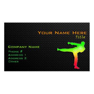 Artes marciales lisos tarjetas de visita