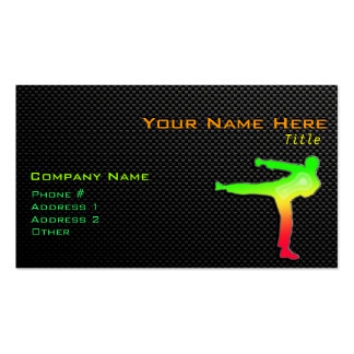 Artes marciales lisos plantillas de tarjetas personales