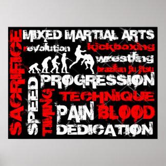 Artes marciales mezclados - elementos del poster d
