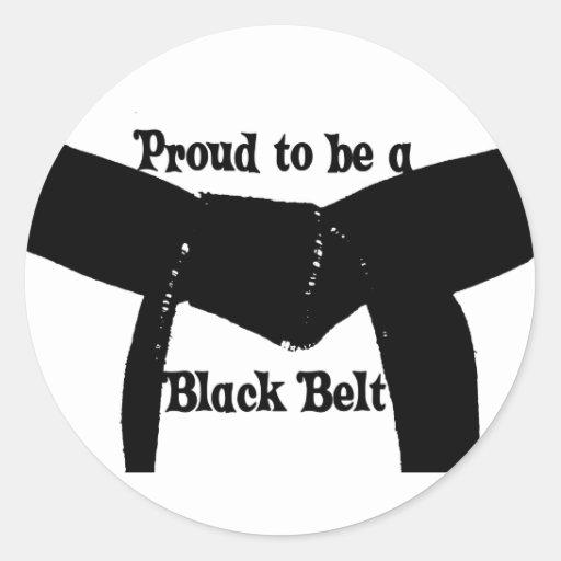 Artes marciales orgullosos ser pegatinas de una pegatina redonda