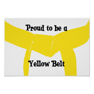 Artes marciales orgullosos ser una correa amarilla póster