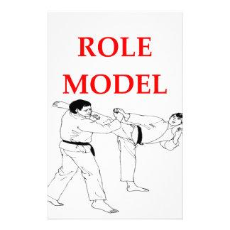 artes marciales papelería personalizada