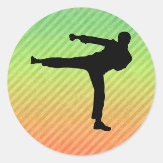 Artes marciales pegatina redonda