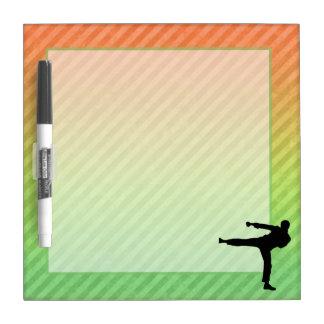 Artes marciales pizarras blancas