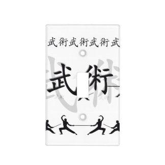 Artes marciales placa para interruptor