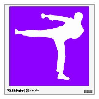 Artes marciales púrpuras violetas vinilo adhesivo