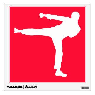 Artes marciales rojos del escarlata vinilo adhesivo
