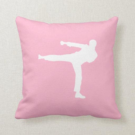 Artes marciales rosas claros almohada