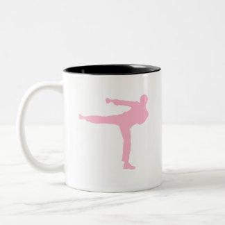 Artes marciales rosas claros taza dos tonos