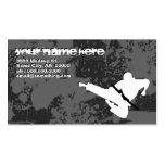 artes marciales: siluetas del grunge: plantilla de tarjeta de negocio