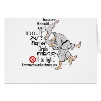 Artes marciales tarjeta de felicitación
