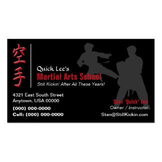 Artes marciales/tarjeta de visita del karate tarjetas de visita