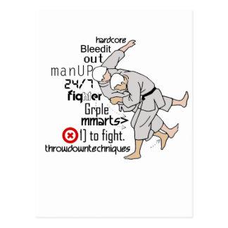 Artes marciales tarjeta postal
