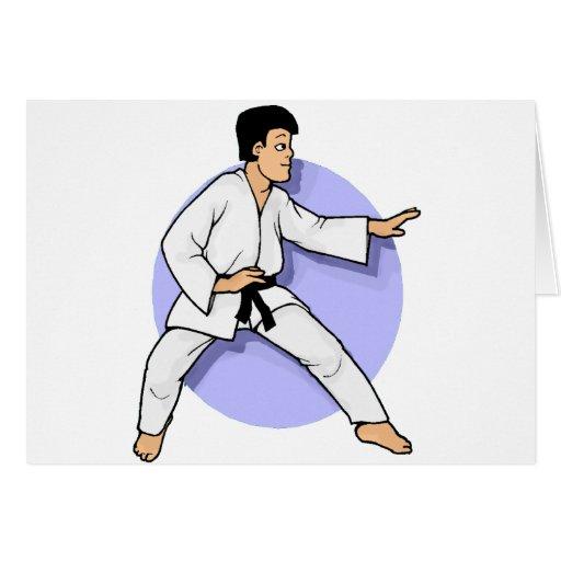 Artes marciales tarjeton