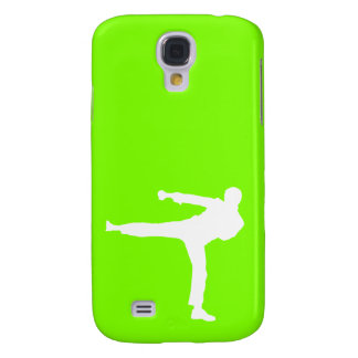 Artes marciales verdes chartreuses, de neón funda para samsung galaxy s4