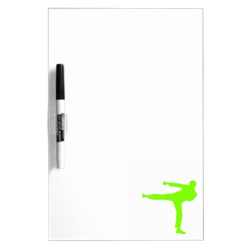 Artes marciales verdes chartreuses, de neón pizarras blancas de calidad