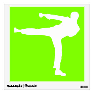 Artes marciales verdes chartreuses, de neón vinilo adhesivo