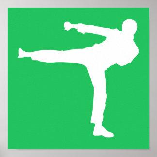 Artes marciales verdes de Kelly Póster
