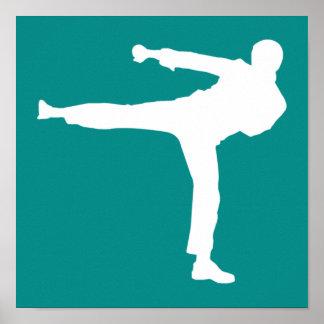 Artes marciales verdes del trullo póster