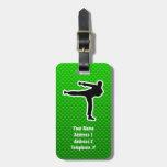 Artes marciales verdes etiqueta de equipaje