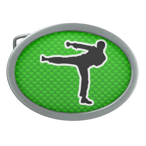 Artes marciales verdes hebillas cinturon