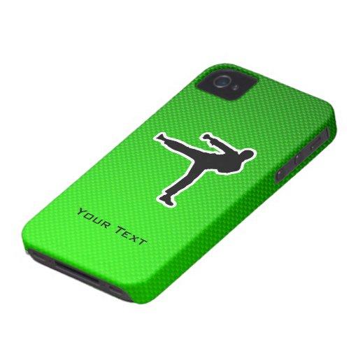 Artes marciales verdes iPhone 4 Case-Mate cárcasa