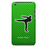 Artes marciales verdes iPod Case-Mate cárcasas