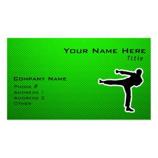 Artes marciales verdes tarjetas de visita