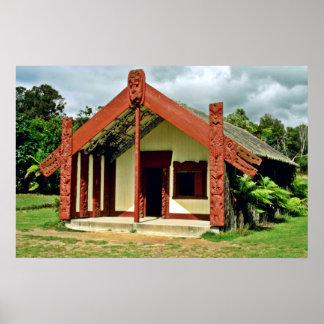 Artes y artes maoríes instituto, Rotorua Poster