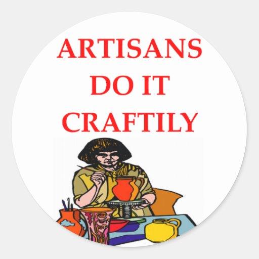 artes y artes pegatinas redondas