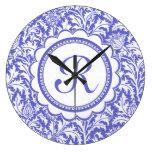 Artes y artes púrpuras William Morris floral Relojes