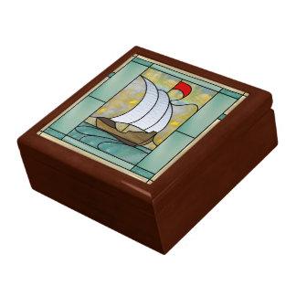 Artes y caja del encargado del tesoro de los artes caja de recuerdo