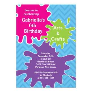 Artes y fiesta de cumpleaños de la pintura de los