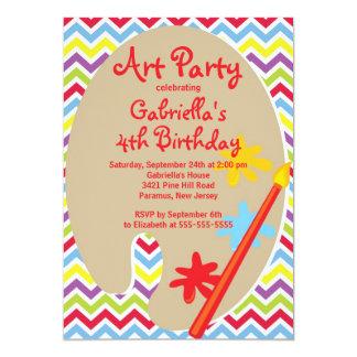 Artes y fiesta de cumpleaños de la pintura de los anuncios personalizados