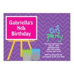 Artes y fiesta de cumpleaños de la pintura de los invitación