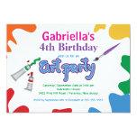 Artes y fiesta de cumpleaños de la pintura de los invitaciones personales