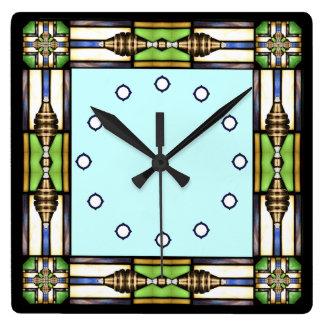 Artes y reloj de pared de cristal del estilo de lo