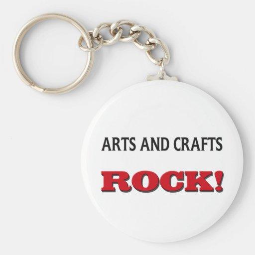 Artes y roca de los artes llavero redondo tipo pin