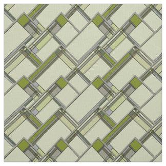 Artes y tela geométrica del verde de la primavera telas