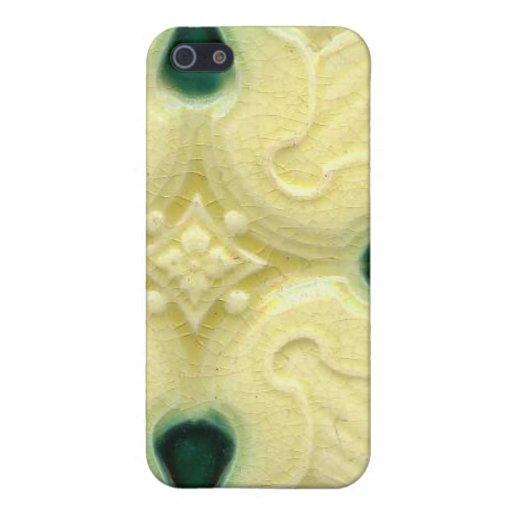 Artes y vintage de la baldosa cerámica de Nouveau  iPhone 5 Protectores
