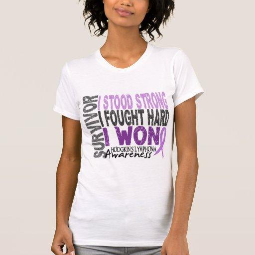 Artesa del linfoma del superviviente 4 camiseta