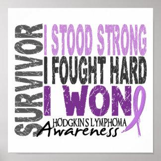 Artesa del linfoma del superviviente 4 póster