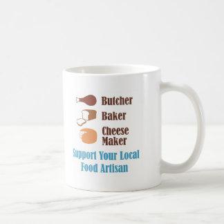 Artesano de la comida taza de café