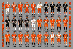 Football posters football prints football wall art artesia bulldogs state champs uniform poster stopboris Images