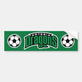 Artesia Dragons Soccer Ball Bumper Sticker Car Bumper Sticker