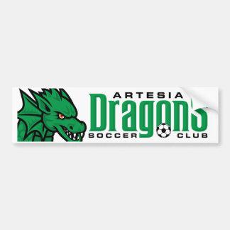 Artesia Dragons Soccer Bumper Sticker Car Bumper Sticker