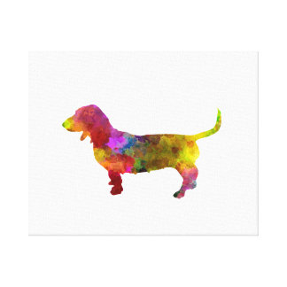Artesian Norman Basset in watercolor Canvas Print
