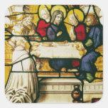 Artesone la representación de St Andrew en la cena Calcomanías Cuadradass