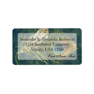 Artful Detail Peacock Feather Address Label